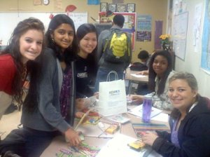 The helpful students at Ardrey Kell who donated snacks and made activity bags