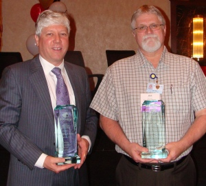 HPCCR Pete Brunnick (who accepted the award for Dr. Hess) and Jim Young, HPCCR volunteer