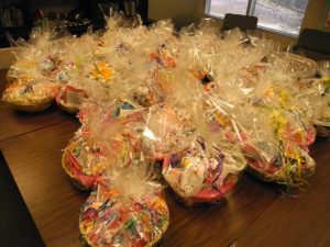 "The ""after"" shot -- baskets filled and ready"