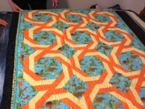 One of the beautiful quilts that a CJ camper will be lucky to recieve.