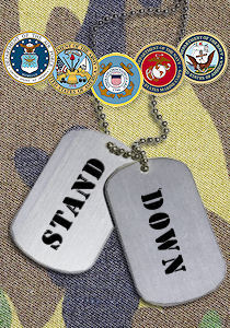 Stand down dog tags