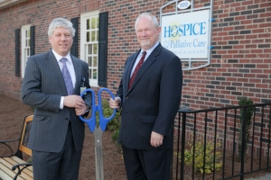 HPCCR President & CEO Pete Brunnick (left) and Lincolnton mayor John O. Gilleland after the ribbon cutting on Thursday evening.