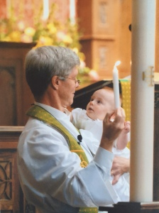 The photo of my nephew's baptism taken by Wes