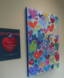 heart painting hanging_LDHH