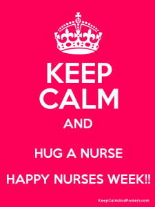 keep calm hug a nurse